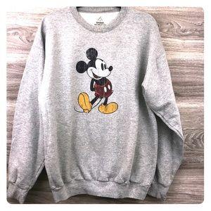 Vintage Disneyland Mickey Mouse gray sweatshirt L